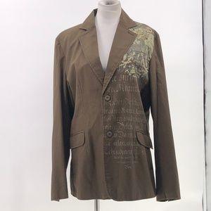 Manchester escapes mens long sleeve blazer jacket